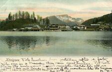 Germany AK Konigsee Schönau am Königssee 83471 - Lake Shore 1906 postcard