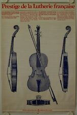 Affiche PRESTIGE LUTHERIE FRANCAISE 1981 Exposition 0ttawa Canada