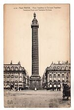 Vendome Place Paris Photo Postcard c1906