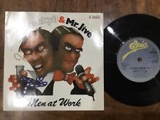 VINYL RECORD SINGLE VINTAGE RETRO 45 MEN AT WORK DR HECKYLL MR JIVE PICTURE