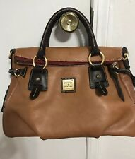 Dooney & Bourke Natural Brown Leather Florentine Stanwich Leather Satchel Bag