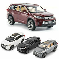 1:32 Toyota Highlander SUV Diecast Alloy Sound&Light Pull Back Car Model Toy