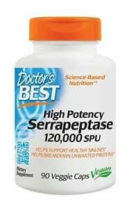 Doctor's Best High Potency Serrapeptase 120000 SPU 90 Veg. Kapseln, VERSAND WELT