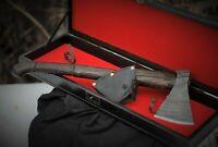 Viking Hand Forged Axe+box Battle Hatchet Handmade Custom Steel Etching
