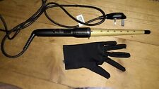 Babyliss smooth vibrancy curling wand with glove used with box .