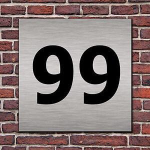 Hausnummer Hausnummernschild in Edelstahl Look Design opt. Abstandhalter, Befes.