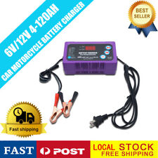 Battery Charger Float Trickle Maintainer 6/12V For Bike Car Truck Mower+US Plug