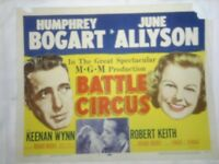BATTLE CIRCUS Lobby Card 1953 Humphrey Bogart June Allyson title card