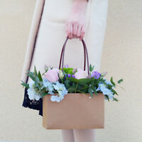 PVC/Kraft Bouquet Flower Floristry Carry Bags Flower Baskets ❤ 5 Colour Choice