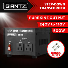 Giantz 500W 240V TO 110V Step Down Stepdown Transformer Voltage Converter AU-US