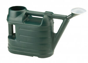 Strata Ward Indoor Outdoor Plastic Plant Watering Can with Rose - 6.5L - Green