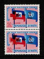 Haiti SC# CB10 Pair MNH / 1 Missing Frame Around Cross Ovpt - S7673