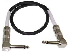 """MDM Audio 18"""" 1/4 Right-Angle Guitar Pedal Patch Cable Cord Black White NEW"""