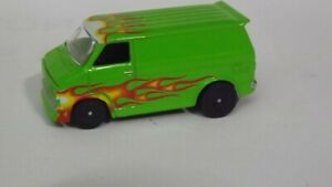 Racing Champions 1975 Chevy Van Green With Flames 1/64 Scale