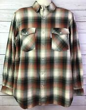 Carhartt Trumbull Shadow Plaid Pearl Snap Flannel Shirt Mens Size Large Relaxed