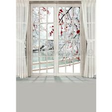 Window Curtain Flower Background Studio Photography Backdrops Photo Props 5x7FT