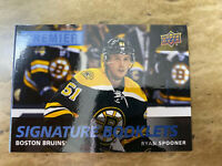 2016-17 Upper Deck Premier Ryan Spooner Auto Signature Booklets Boston Bruins