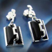 Onyx Silber 925 Ohrringe Damen Schmuck Sterlingsilber S0123