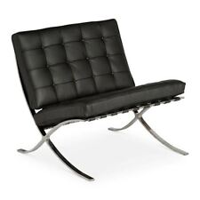 REPLICA LUDWIG MIES VAN DER ROHE BARCELONA CHAIR - BLACK