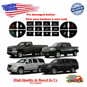 Replacement Climate Control Button Stickers For 2007-2013 Chevrolet GMC HVAC New