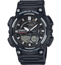 Casio Men's Databank 30 Watch, 100M, 3 Alarms, Chronograph, Resin, AEQ110W-1AV