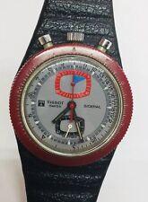 Tissot Sideral Fiberglass Bullhead Chronograph Manual Wind Gray Dial Men's Watch