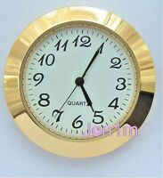 """50mm fit 46mm or 1,13/16"""" hole /Clock/Watch Insert free spare battery"""