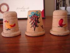 Southwest Wooden Thimbles, Set of 3