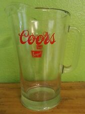 Vintage Heavy Duty Bar Glass Coors Original Beer Serving Pitcher