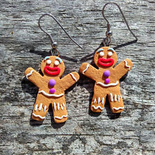 Gingerbread Man Earrings Funny Christmas Gifts Ideas Stocking Stuffers Presents