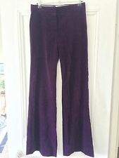 CHLOE *Excellent Condition & 100% Genuine* Velvet Purple Bootleg Trousers FR 34