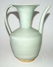 Chinese Song Dynasty Style Pale Celadon Glaze Ewer w. Applied Handle  (BrJ)