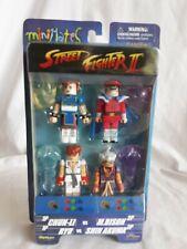 NEW MiniMates Street Fighter II 4-Pack Figure Chun-Li Bison Ryu Shin Akuma A12