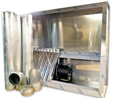 Commercial Kitchen Extraction Kit 1200mm x 1100mm Full Stainless Steel