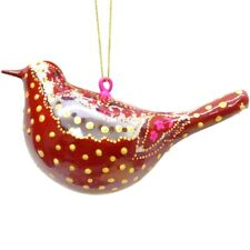 Cardinal Red Glass Bird Figurine Christmas Ornament Diwali Decorations Boho