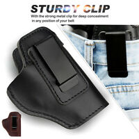 Leather IWB Concealed Carry Gun Pistol Holster Fit Glock 17 19 Sig Sauer S&W
