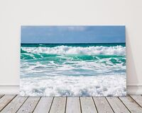Atlantic waves sea from Cornwall canvas print framed picture wall art waves
