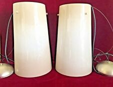 Pair Large Barovier & Toso Murano Glass Pendant Lamps Model #6791