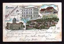 109294 AK Bad Landeck in Schlesien 1898 Litho Hotel Bismarck Bahnhof Marienbad