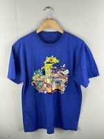 Nickelodeon Rug Rats Men's T Shirt - Size Large - Blue