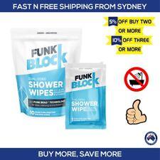 FunkBlock Shower Wipes 10 Pack - Premium Full Body Bathing Wipes by SweatBlock