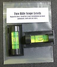 Two Rifle Scope Magnetic Levels.