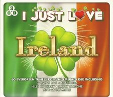 I JUST LOVE IRELAND 3 CD SET 60 EVERGREEN TUNES FROM EMERALD ISLES - IRISH MUSIC