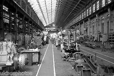 British Rail Engines in erecting shop Doncaster 1978 Rail Photo