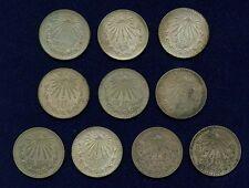 MEXICO 1 PESO SILVER COINS: 1922, 1926, 1932, 1933, 1934, 1938, 1943, 1944, 1945