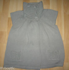 BONOBO - Gilet gris manches courtes gros boutons - T. 36 - TBE