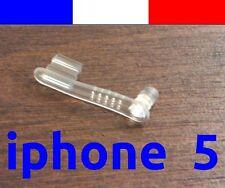 x1 cache anti-poussière TRANSPARENT lightning capuchon bouchon -> iphone 5 5C 5S