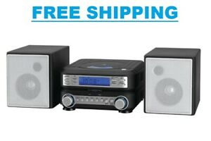 Stereo Home Cd System Player MP3 Radio Room Speakers Remote Compact Ipod AM/FM