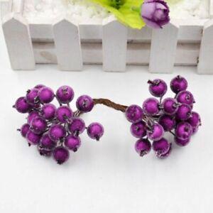 40heads Artificial Fruit Glass Flowers Fake Flower Berries Stamen Art Craft Acce