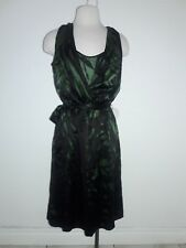 Filippa K Dress Women's Sleeveless Midi Black green  elasticWais Size small